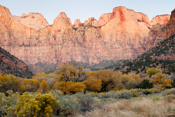 Early Stages of Sunrise - Zion